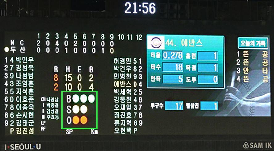 이 부분은 각 경기마다 투수가 던진 공에 대한 정보를 보여줍니다.