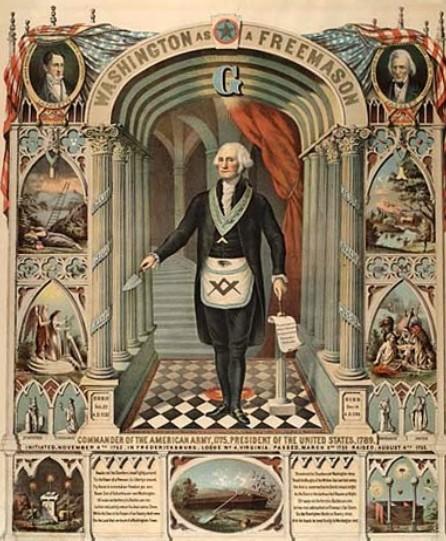 프리메이슨 의식 예복을 입은 조지 워싱턴