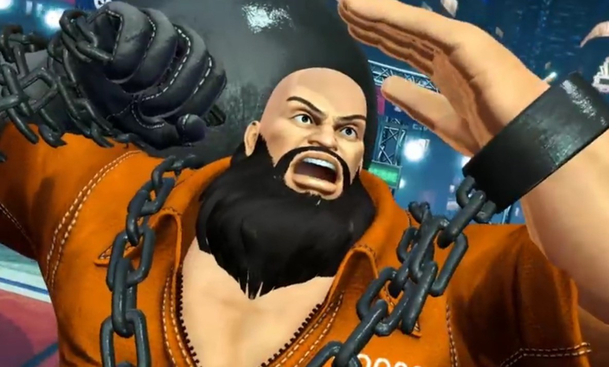 거대한 쇠구슬을 무기로 사용하는 거구의 게임 캐릭터