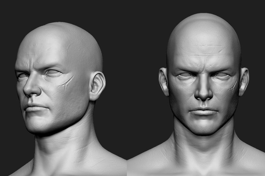 3D그래픽 제작툴 ZBrush를 이용해 군단장 캐릭터의 하이폴리곤 모델링을 제작