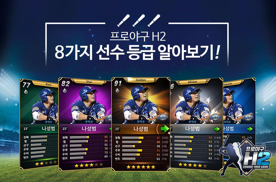 프로야구 H2 8가지 선수 등급!