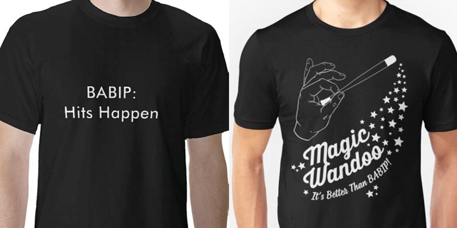 열혈 야구팬들의 티셔츠도 있네요! #BABIP