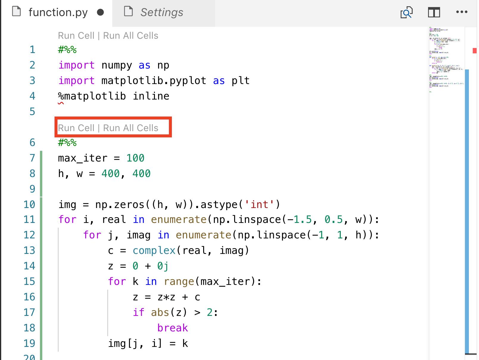 """위 그림의 빨간색 박스에서 """"Run Call""""은 해당 매직 코멘트 블록을 실행하라는 의미다. Jupyter 내에서 한 블록으로 이해하면 된다. pylint의 작동원리는 해당 코멘트를 Jupyter로 넘겨 실행한 후 이를 받아서 다시 VSC 내에 뿌려준다."""