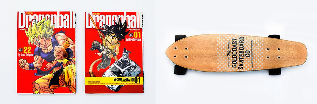 드래곤볼과 스케이트보드