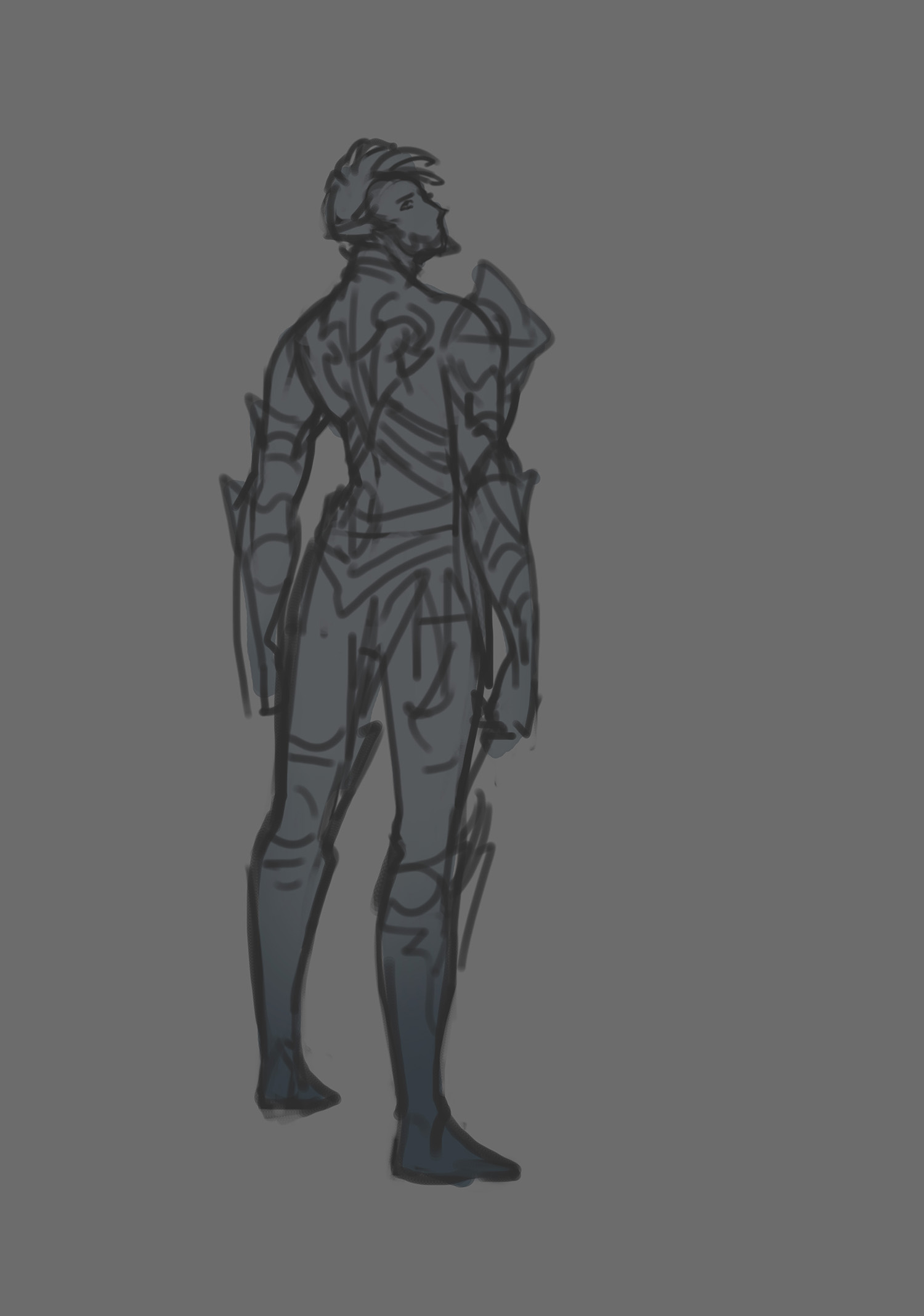 Death Knight Concept Sketch 4