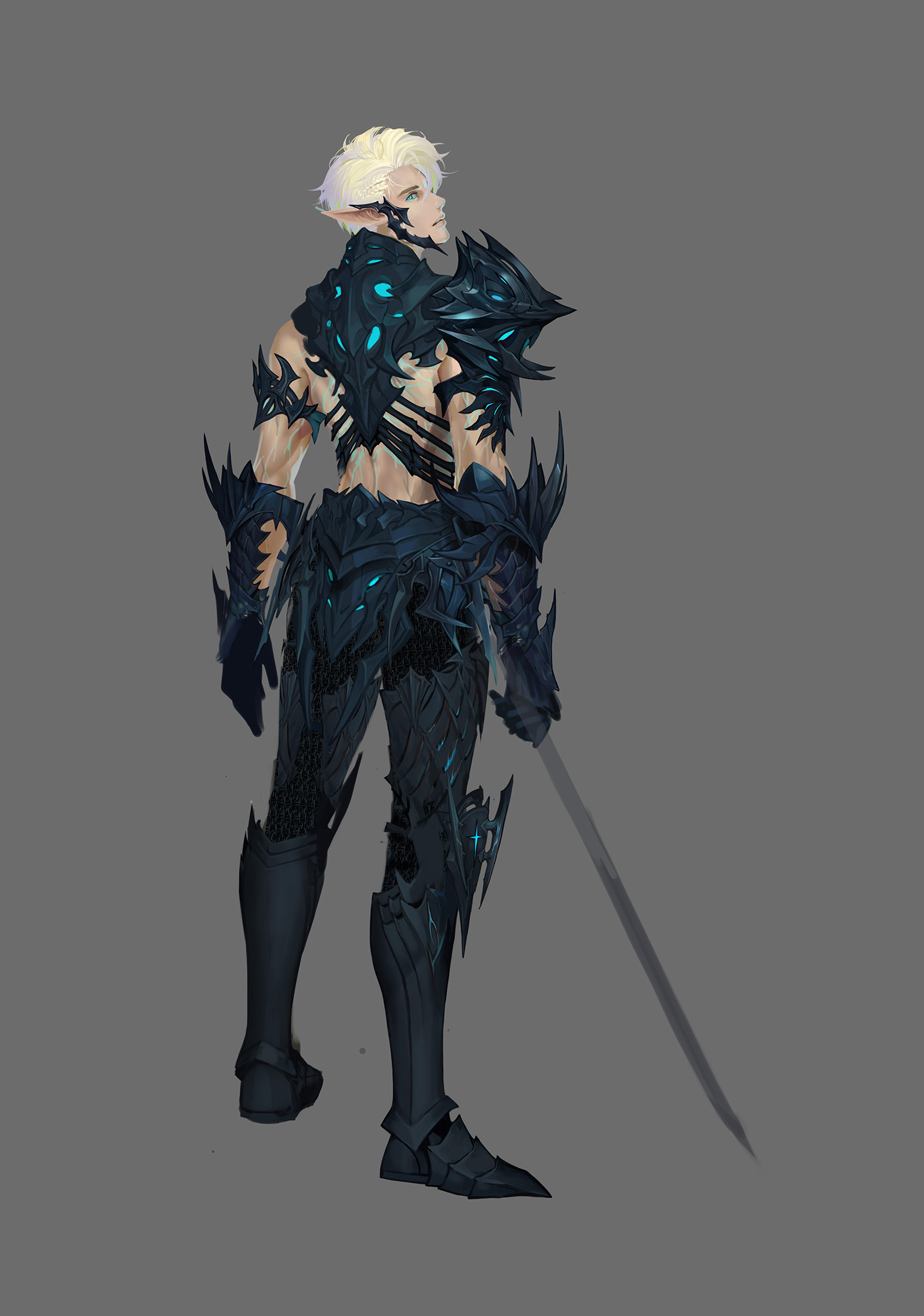 Elf of Death Knight Concept Sketch 1