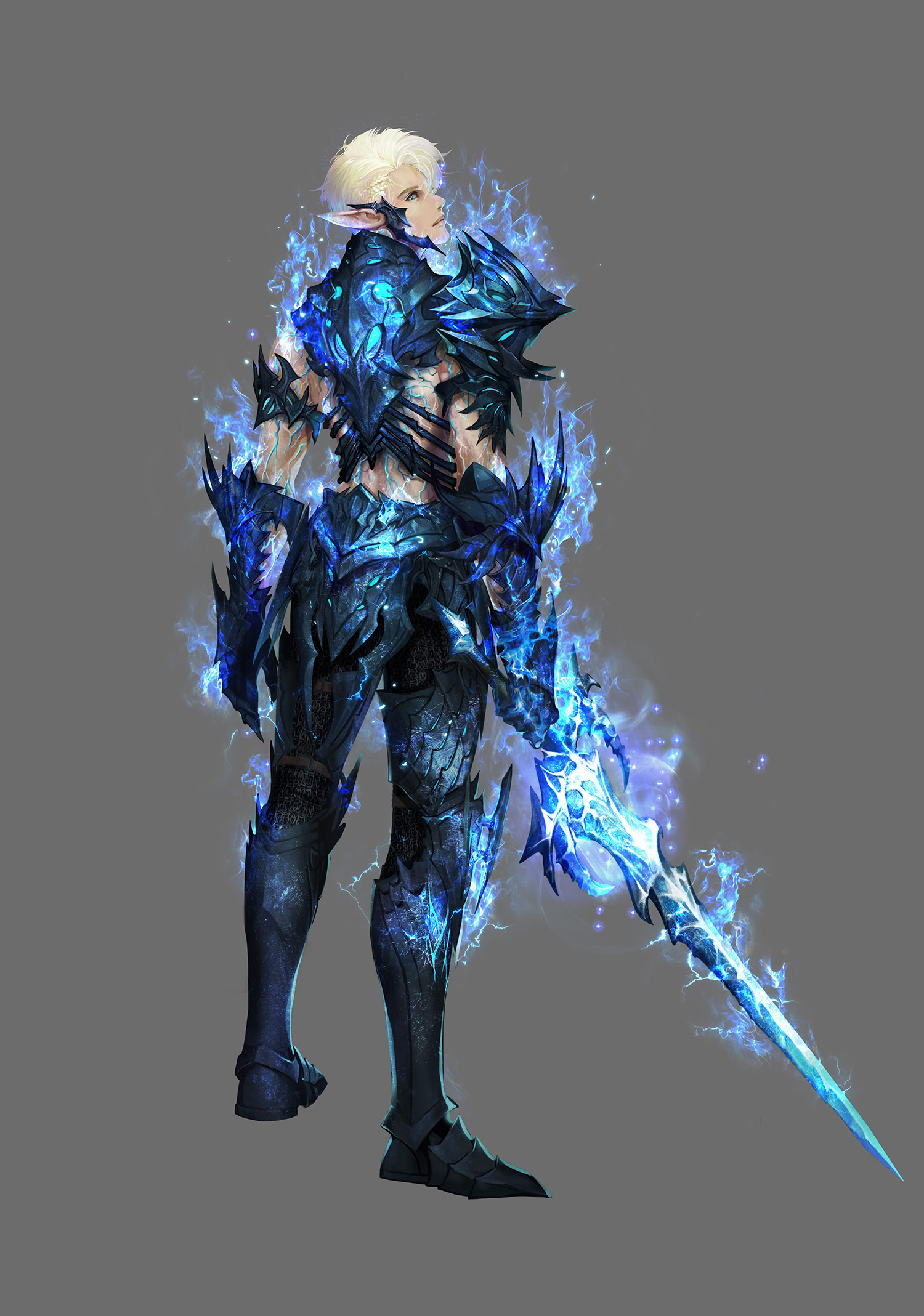Elf of Death Knight Concept Sketch 3