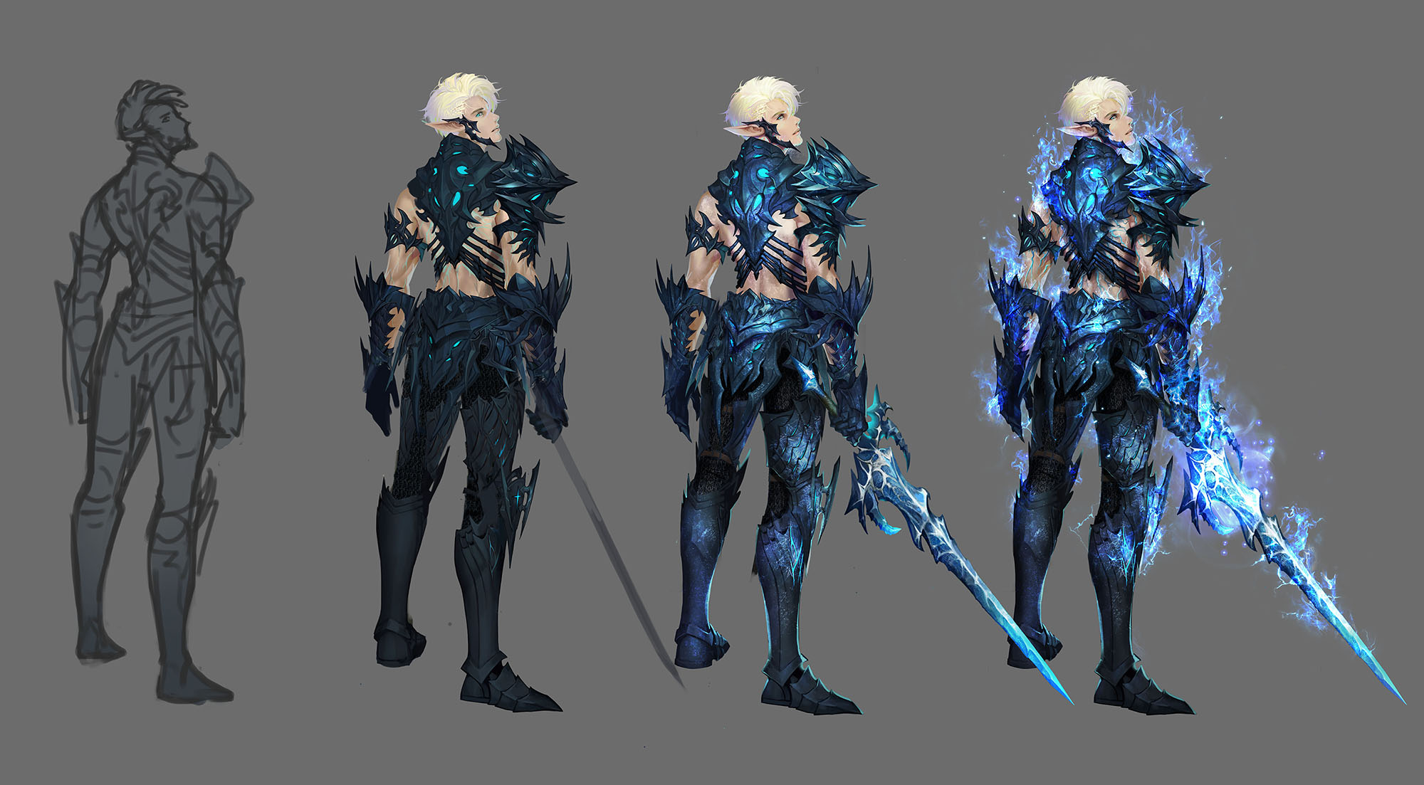 Elf of Death Knight Concept Sketch 4